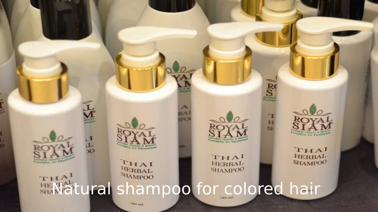 Natural shampoo for colored hair