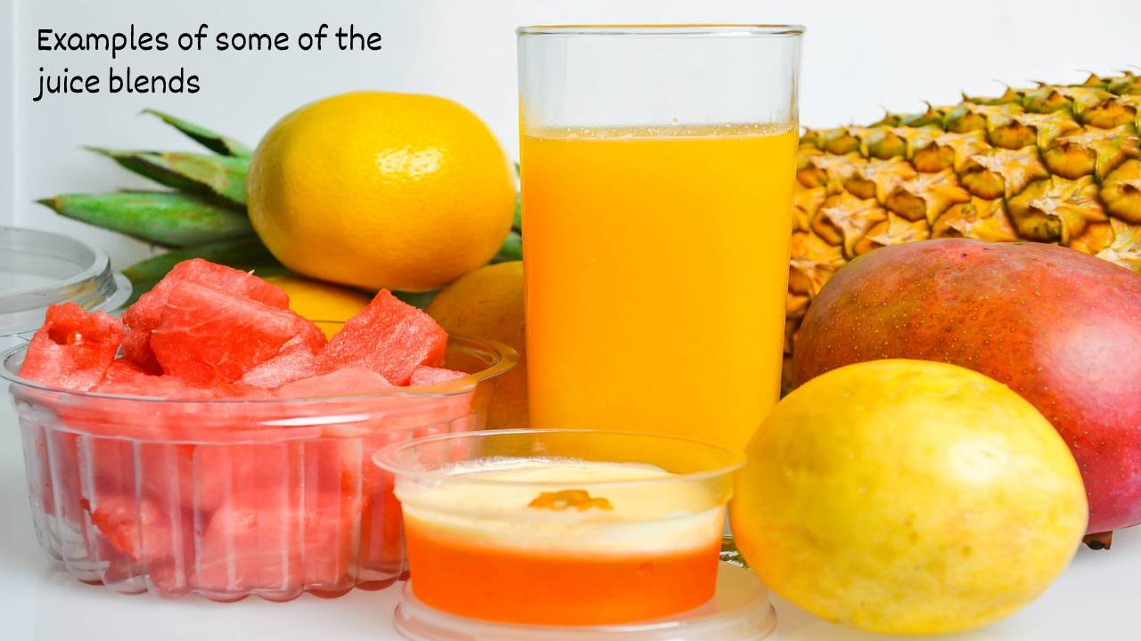 Examples of some of the juice blends